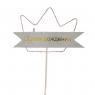 Топпер Корона со светом (розовая) (8132-019)