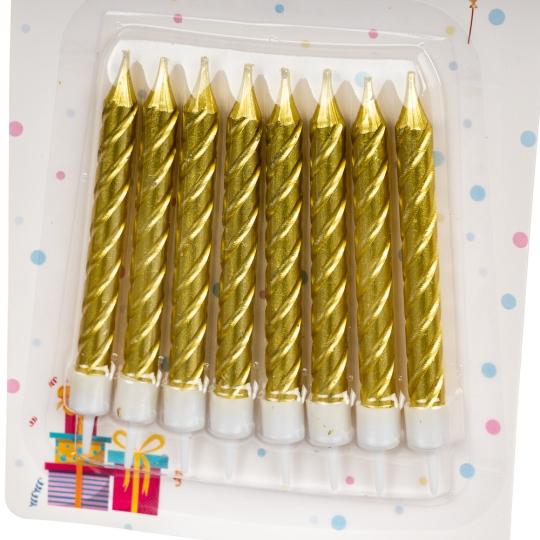 """Свечи для торта """"Золото"""" (8133-011)"""