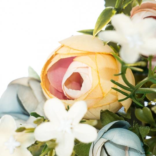 Искусственный цветок (30 см) (002FT-greenpeach1)