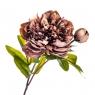 """Цветок искусственный """"Пион с бутоном"""" дымчато-розовый (8100-041)"""