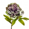 """Цветок искусственный """"Пион с бутоном"""" пурпурный (8100-042)"""