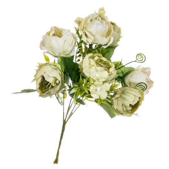 """Букет цветов """"Роза пионовидная"""" кремовая (8100-071)"""