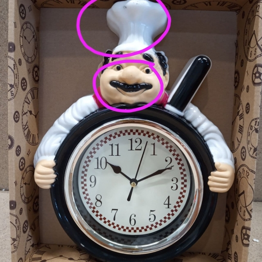 "Часы ""Повар"" (царапины,потертости) (00BR-2003-034)"
