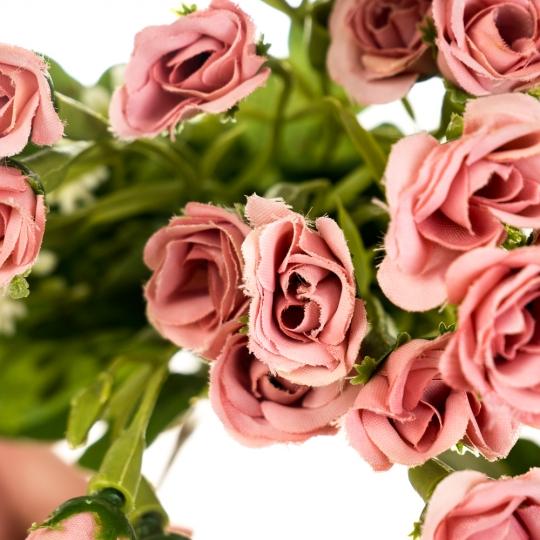 """Цветочный букет """"Тёмно-розовый"""" (8023-014/dark-pink)"""
