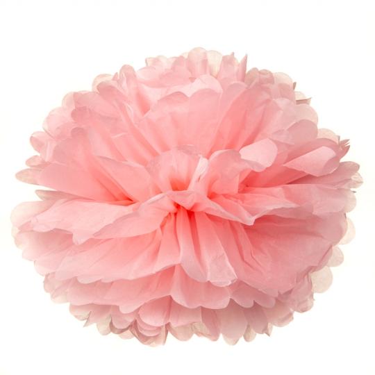 Бумажный пом-пон, розовый 35 см. (8705-013)