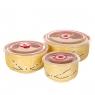 """Набор керамических контейнеров с вакуумной крышкой 3 шт """"Желтый"""" (0049JA-A)"""