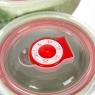 """Набор керамических контейнеров с вакуумной крышкой 3 шт """"Зеленый"""" (0049JA-B)"""