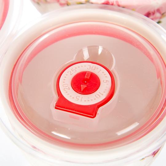 """Набор керамических контейнеров с вакуумной крышкой 3 шт """"Цветочный принт"""" (0050JA-A)"""