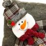 """Подушка (2 вида) """"Дед Мороз и Снеговик"""" (037NC)"""