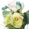 Искусственный цветок (30 см) (009FT-whitegreen3)