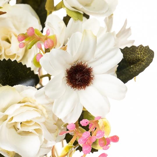 Искусственный цветок (30 см) (007FT-white3)