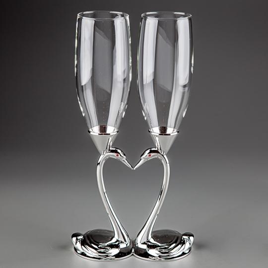 """Свадебные бокалы """"Лебеди"""""""