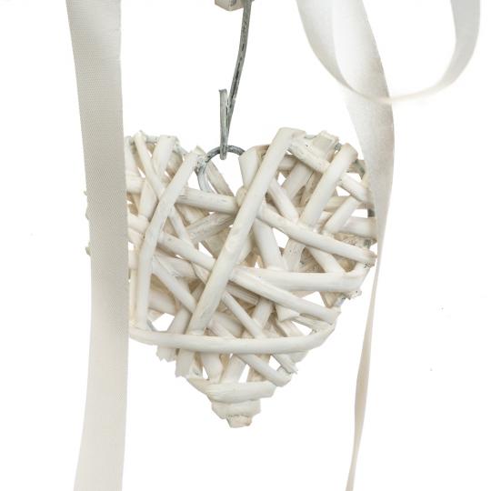 """Венок подвесной из лозы """"Сердечный тандем"""" 35*34 см (5002-022)"""