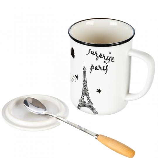 """Кружка, серия """"Счастье в Париже"""" (360мл) *рандомный выбор дизайна (188JH)"""