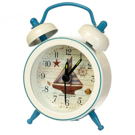 """Часы-будильник """"Морская символика"""" (рандомный выбор дизайна) (007AK)"""