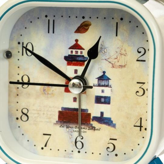 """Часы-будильник """"Морской круиз"""" (рандомный выбор дизайна) (008AK)"""