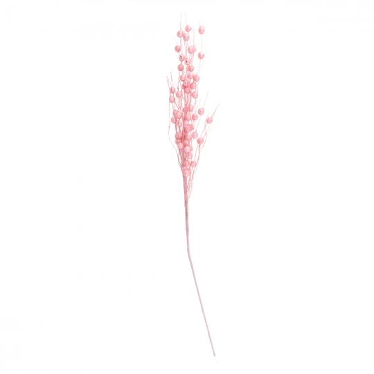 """Декоративная ветка """"Заснеженые бусы"""" светло-розовые (2010-062)"""