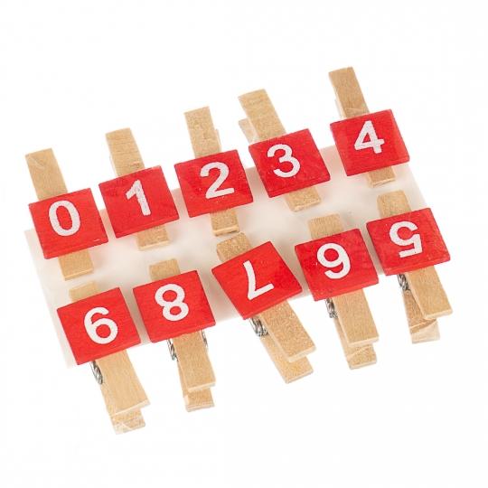 """Прищепка """"Цифры"""" (0358J)"""