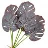 Ветвь монстеры темно-серая искусственная (8408-051)