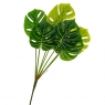 Ветвь монстеры травянисто-зеленая искусственная (8408-052)