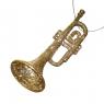 """Украшение """"Серебряная труба в блёстках"""" (024NR/gold)"""