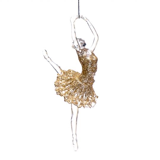 """Украшение """"Волшебная золотая балерина"""" (003NR/gold)"""