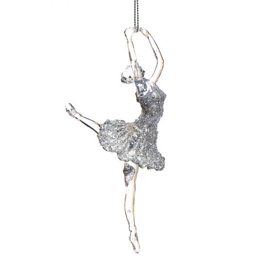 """Украшение """"Волшебная серебряная балерина"""" (003NR/silver)"""