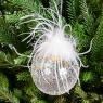 """Ёлочная игрушка """"Хрустальный шарик с перьями"""" (076NB)"""