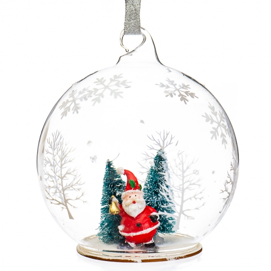 "Елочная игрушка  ""Дед Мороз в шаре"" (098NB)"