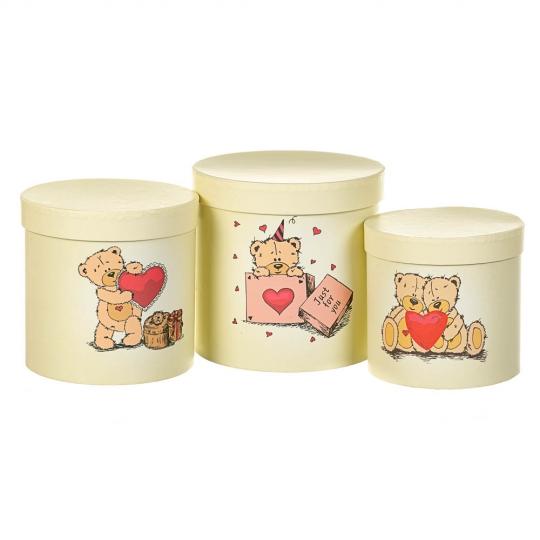 """Набор коробок """"Влюбленность"""" 3 шт. желтый (8300-003)"""