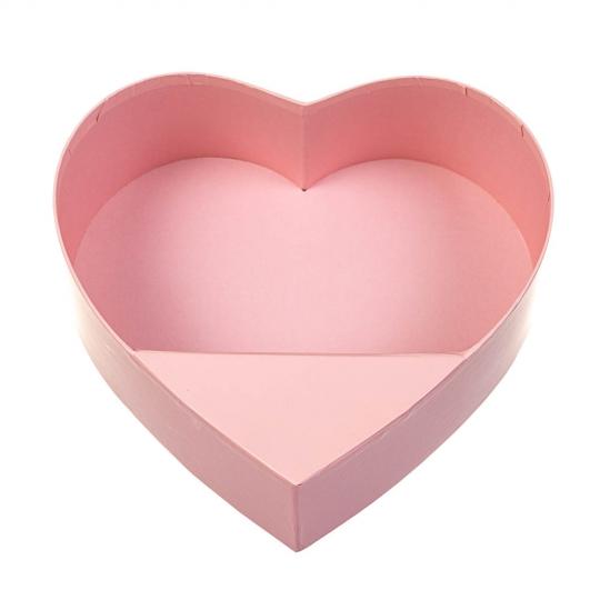 "Коробка для цветов ""Нежное сердце"", розовая (8300-009)"