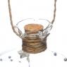 """Елочная игрушка """"Волшебный шар"""", 12х13см (с с подсветкой) (049NB)"""