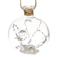 """Елочная игрушка """"Волшебный шар"""", 10х11см (с подсветкой)"""
