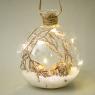 """Елочная игрушка """"Волшебный шар"""", 10х11,5см (с подсветкой) (051NB)"""