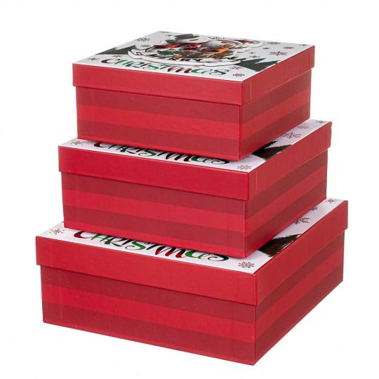 """Набор из 3 коробок """"Веселые друзья""""   28*28*11 (8211-067)"""
