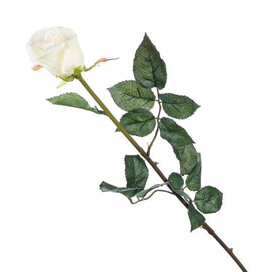 Роза (77 см, силикон) (008F/cream)
