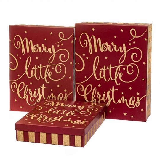 """Набор из 3-х коробок """"Новогоднее настроение""""39*30*11 см (8211-073)"""