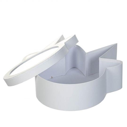 """Коробка для цветов """"Сказочное настроение"""" белая (8300-049)"""