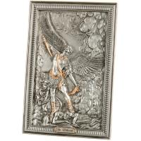 """Картина серебро """"Архангел Михаил"""" (23,5 см)"""