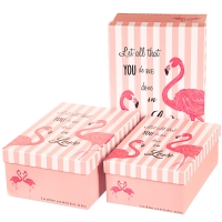 """Набор коробок """"Влюбленность"""" пудровый цвет) 3шт."""