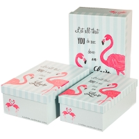 """Набор коробок """"Влюбленность"""" (бирюзовый цвет) 3шт."""