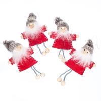 """Набор игрушек   """"Новогодняя компания"""" (4 шт) (красный костюм)"""