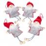 """Набор игрушек """"Новогодняя компания"""" (серый  костюм) (0237JA-B)"""