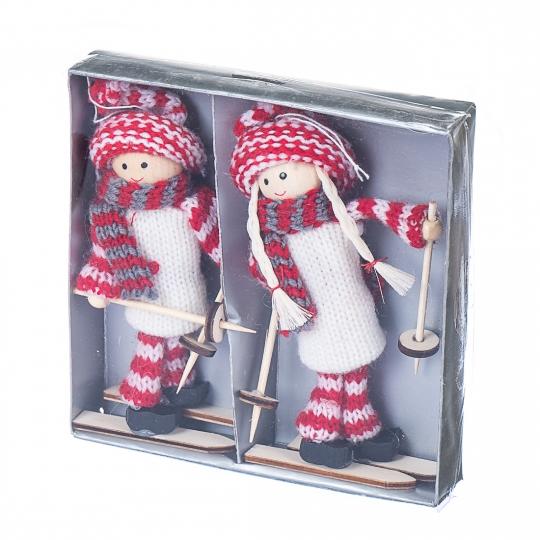 """Набор игрушек (2 шт) """"Девчата-лыжницы"""""""