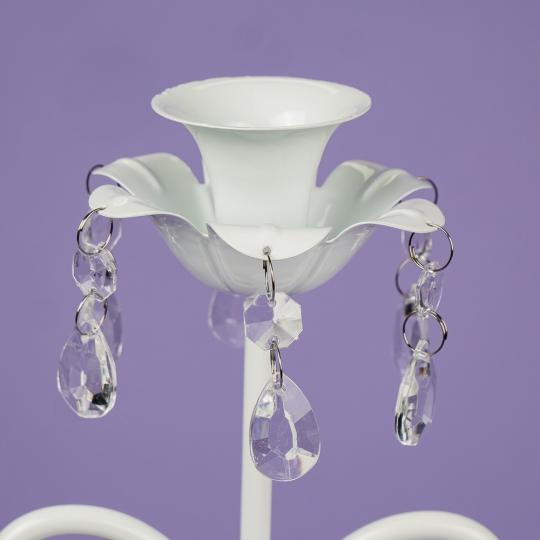 Подсвечник на 3 свечи с кристаллами  (57 см.) (2011-005)