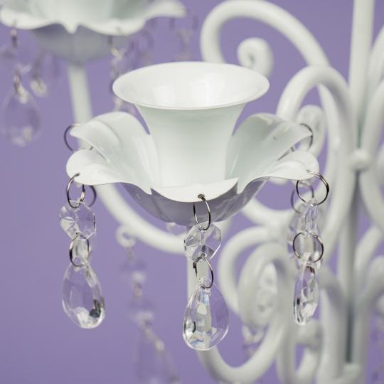 Подсвечник на 5 свечей с кристаллами (57 см.) (2011-006)