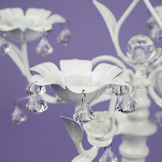 Подсвечник на 5 свечей с кристаллами (50 см.) (2011-008)