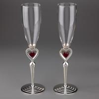 """Свадебные бокалы """"Пылающие сердца"""""""