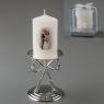 Свадебная свеча (10 см) (цвет кремовый, белый) (016Q)