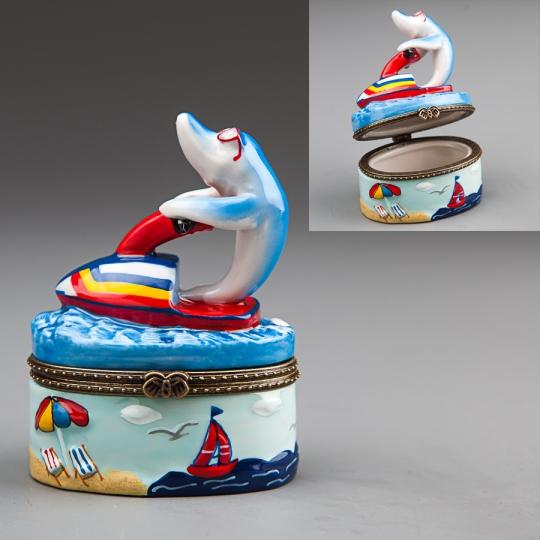 """Шкатулочка """"Дельфин"""" (8 см) (003E)"""